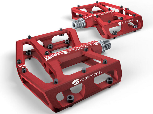 ACROS A-Flat XL Pedalen, red